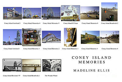 Nathans Photograph - Coney Island Montage by Madeline Ellis