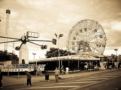 Photograph - Coney Island New York by Mickey Clausen
