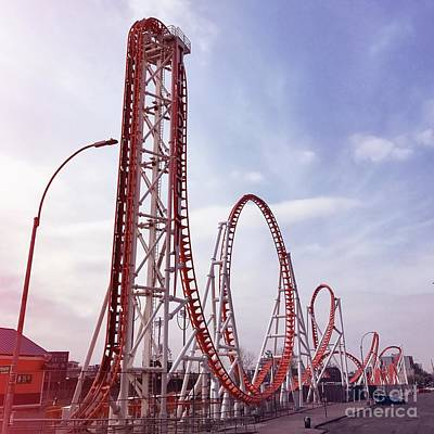 Luna Park Photograph - Coney Island, Ny by HD Connelly