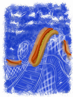 Hot Dogs Digital Art - Coney Island by Russell Pierce