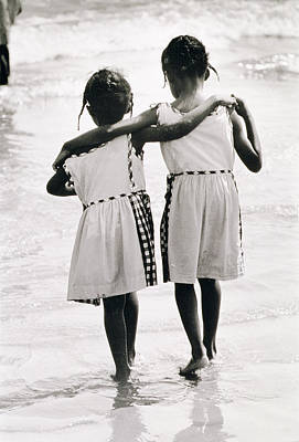 Coney Island Photograph - Coney Island Sisters by Nat Herz