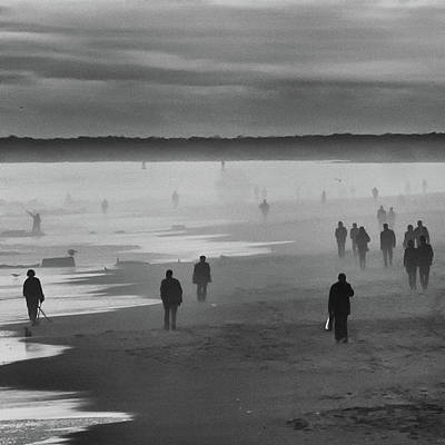 Photograph - Coney Island Walkers by Eric Lake