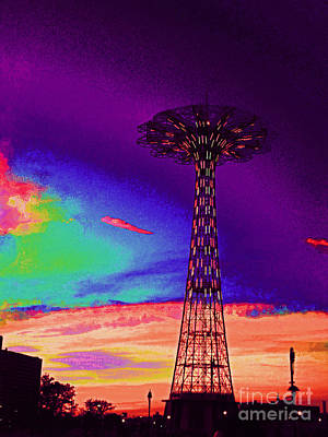 Coney Islands Parachute Jump Art Print