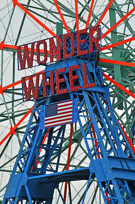 Photograph - Coney Island's Wonder Wheel by Mike Martin