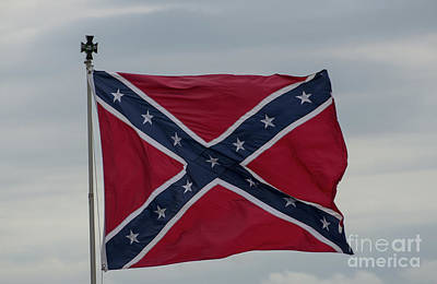 Photograph - Confederate Battle Flag by Dale Powell