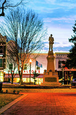 Photograph - Confederate - Bentonville Town Square by Gregory Ballos