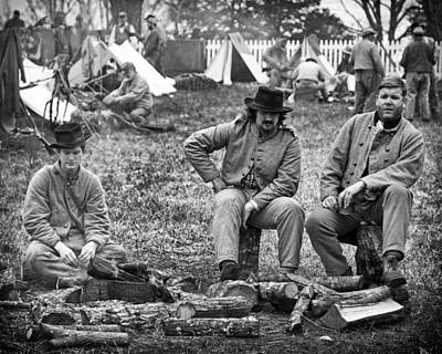 Photograph - Confederate Camp by Alan Raasch