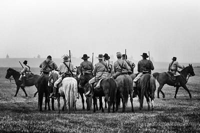 Photograph - Confederate Cavalry by Alan Raasch