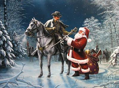 Santa Wall Art - Painting - Confederate Christmas by Dan  Nance