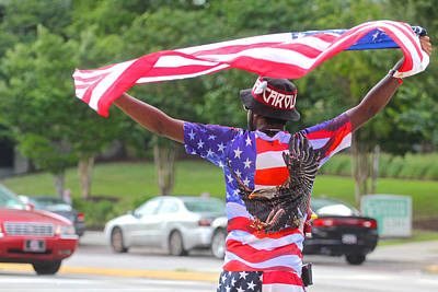 Photograph - Confederate Flag Protestor 5 by Joseph C Hinson Photography