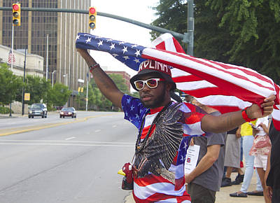 Photograph - Confederate Flag Protestors 3 by Joseph C Hinson Photography