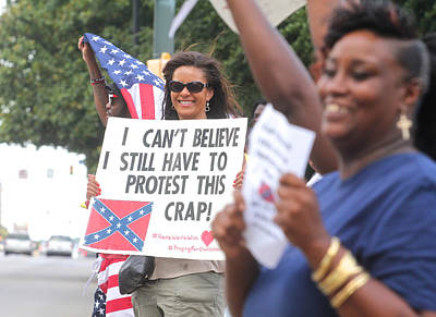 Photograph - Confederate Flag Protestors2 by Joseph C Hinson Photography