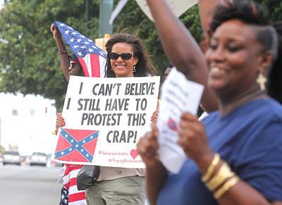 Photograph - Confederate Flag Protestors2 by Joseph C Hinson Photography