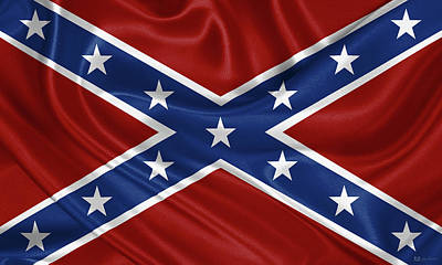 Digital Art - Confederate Flag - Second Confederate Navy Jack And The Battle Flag Of Northern Virginia by Serge Averbukh