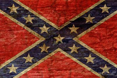 Confederate Flag Art Print by SMart
