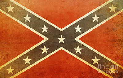 Photograph - Confederate Flag  by Susan Bordelon