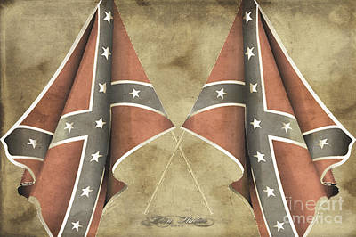 Digital Art - Confederate Flags by Melissa Messick