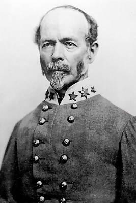 Johnston Digital Art - Confederate General Joseph E Johnston by Daniel Hagerman