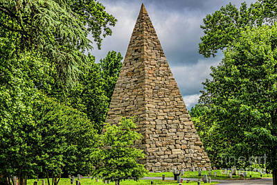 Photograph - Confederate Memorial Pyramid Under Stormy Skies 4771t by Doug Berry