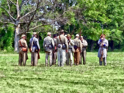 Photograph - Confederate Muster by Susan Savad