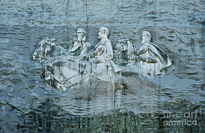 Stonewall Jackson Photograph - Confederate Relief At Stone Mountain by John Greim