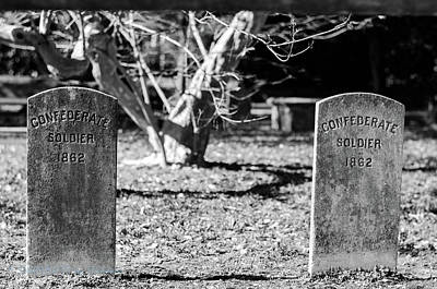 Photograph - Confederate Soldiers Final Resting Place by Stefanie Silva