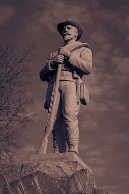 Photograph - Confederate Statue  Standing Guard by James L Bartlett