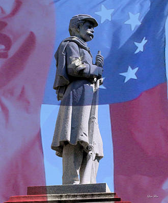 Photograph - Confederate Statue State Of Alabama Capitol Building by Lesa Fine