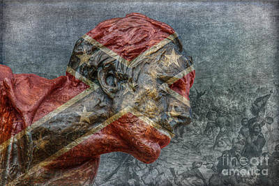 Confederate Veteran  Art Print by Randy Steele