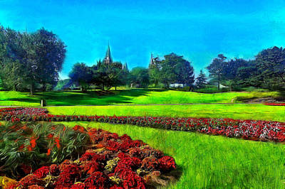 Historic Site Digital Art - Confederation Park by Jean-Marc Lacombe