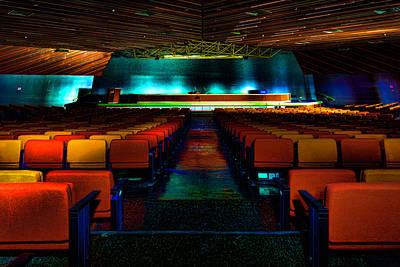 Photograph - Conference Hall Luoghi Abbandonati Delle Passeggiate A Levante Sala Congressi by Enrico Pelos
