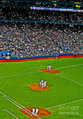 Photograph - Conference On The Pitcher's Mound by Nina Silver