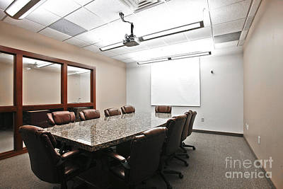 Photograph - Conference Room by Richard Lynch