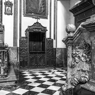 Pastor Photograph - Confessional St Justo And Pastor Church II by Guido Montanes Castillo