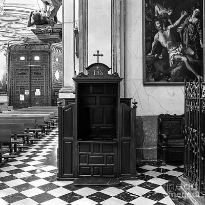 Pastor Photograph - Confessional St Justo And Pastor Church IIi by Guido Montanes Castillo