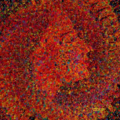 Pointillist Digital Art - Confetti At Midnight by Diane Parnell