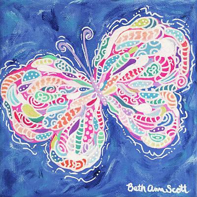 Painting - Confetti by Beth Ann Scott