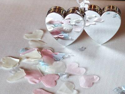 Photograph - Confetti Hearts by Helen Northcott