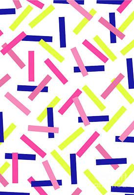 Pink Confetti Digital Art - Confetti by Louisa Knight