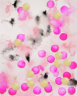 Contemporary Watercolor Painting - Confetti by Roleen Senic