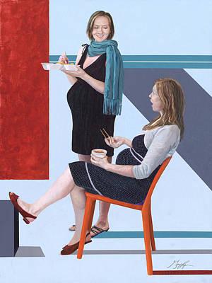 Painting - Confidants by GayLynn Ribeira