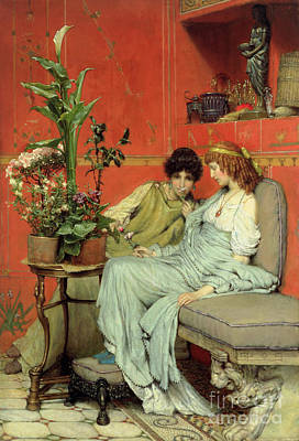 Painting - Confidences by Sir Lawrence Alma-Tadema