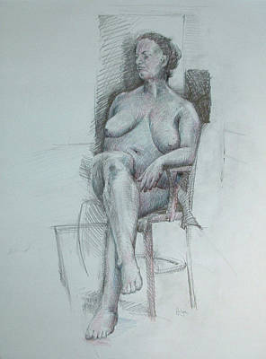Inner World Drawing - Confident Nude by Mark Johnson