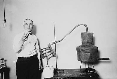 Photograph - Confiscated Moonshine Still - Prohibition Era by War Is Hell Store