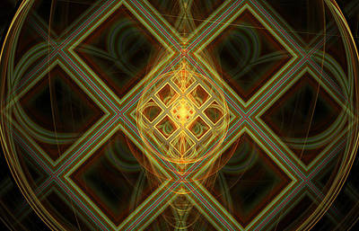 Framed Art Digital Art - Conflict Between Shapes And Sizes by Darrell Fifield