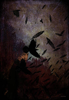 Mixed Media - Conflict Of The Crows by Lesa Fine