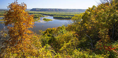 Photograph - Confluence Of Mississippi And Wisconsin Rivers by Garry McMichael