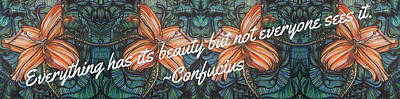 Confucius Beauty  Art Print