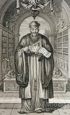 Wise Men Drawing -  Confucius by Honbleau