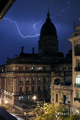 Photograph - Congeso Lightning 2 by Balanced Art